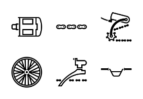 Bicycle part outline