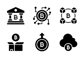 Bitcoin Cryptocurrency Glyph