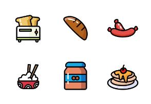 Breakfast Food - Color