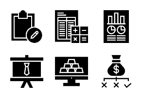 Business and Finance Glyph 32
