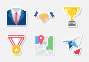 Business and Finance Sticker-set 1