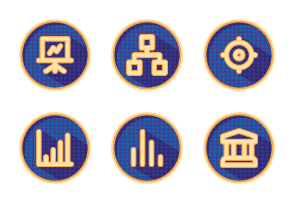 Business dotted shadowed badges
