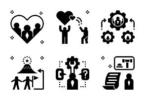 Business Partnership Glyph