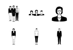 Business people in one color