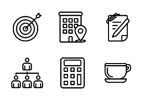 Business Workplace office (Line Style)