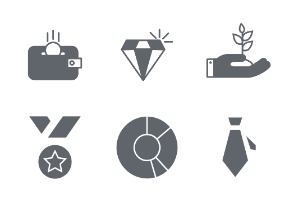 Busniss and Finance glyph