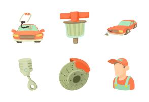 Car repair items - Cartoon 2