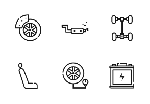 Car Service Outline Iconset