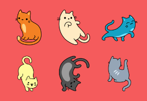 Cat Pattern Colored