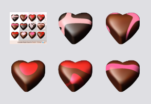 Valentine Gift: Chocolate Hearts