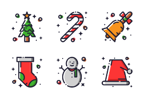 Christmas (Filled Outline)
