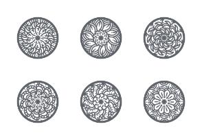 Circle Floral Ornaments