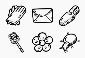 Cleaning - Hand Drawn Icons