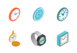 Clocks - isometric