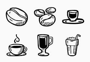Coffee House Hand Drawn Icons