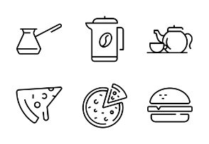 Coffee shop line set 1