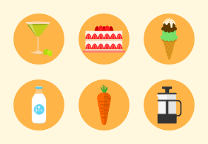 Colored Icons - Food