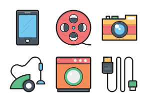 Colored Vector Icons 10