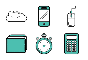 Coloured office objects
