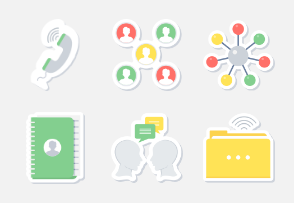 Communication & Connectivity Sticker icons PART-2