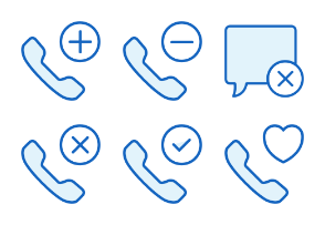 Communications - Monochrome Icons