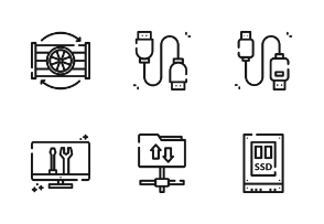 Computer Science With Outline Iconset