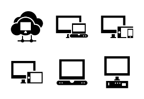 Computers and Network Glyph