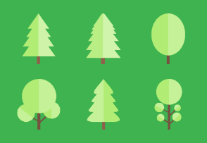 Coniferous and deciduous trees