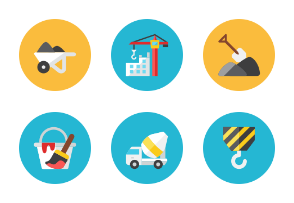 Construction Icons - Rounded