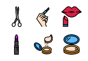 Cosmetics fill outline