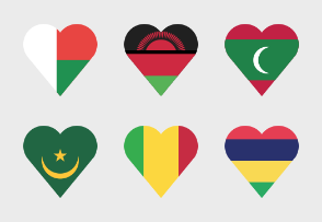 Country flag heart