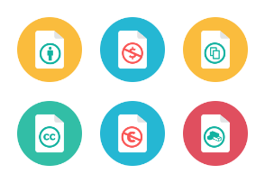 Creative Commons Icons - Rounded