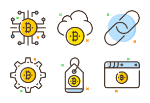 Cryptocurrency - Filled Outline