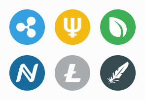 Cryptocurrency round color