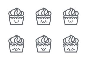 Cupcake Emojis