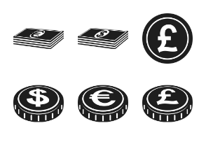 Currency and financial objects.