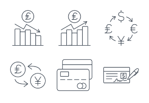 Currency & Credit - Thin outline