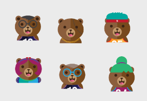 Cute bear avatar