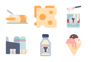 Dairy products Flat - Nutrition goods