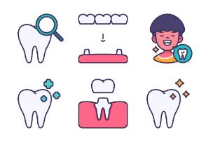 Dental filled outline