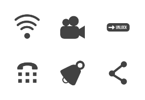 Mobile Apps Glyph (Black)