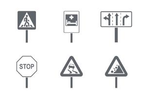 Different road signs
