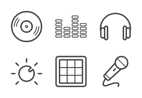 Dj Equipment Outline