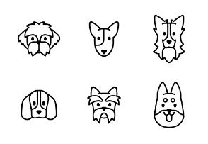 Dog breed minimal - Outline