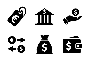 Dollar Currency Money Stock Glyph