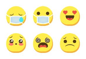 Dompicon Flat Emoticon & Smileys