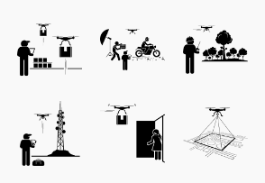 Drone for Commercial and Industrial Usage and Applications