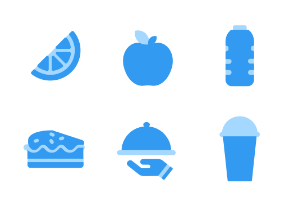 DuoTone - Food and Beverage Iconset - Blues
