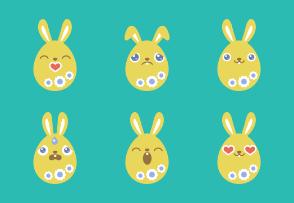 Egg Bunny Yellow