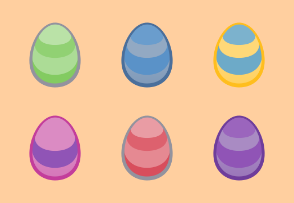 Easter Eggs | colored